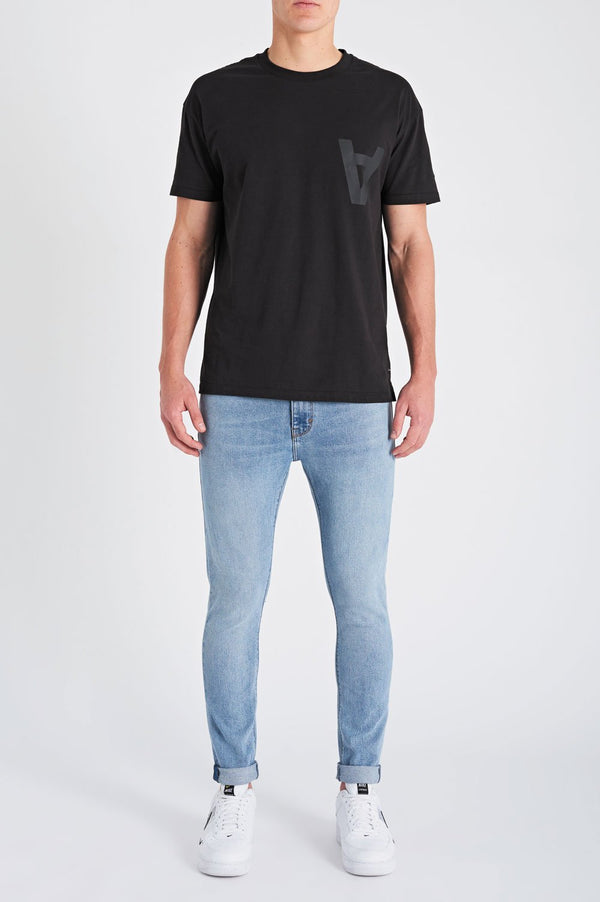 Abrand Mens A Dropped Skinny Turn Up - Front