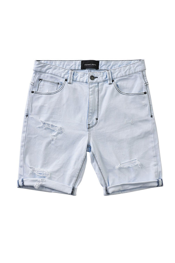 Abrand Mens Dropped Slim Shorts - Front