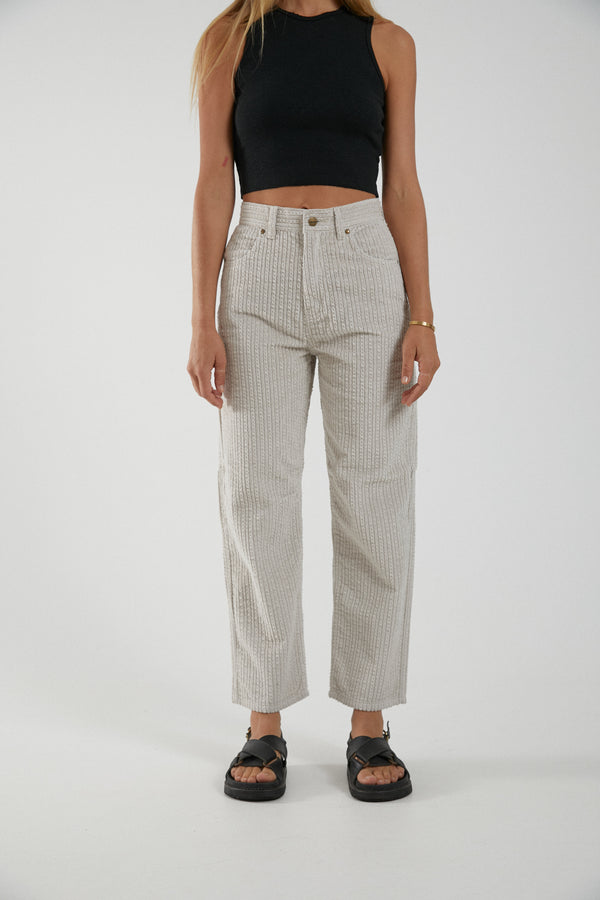 Afends Ladies Shelby Cord High Waist Pant