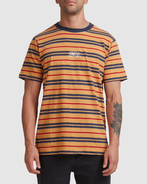 RVCA Mens Shadow Stripe SS Tee