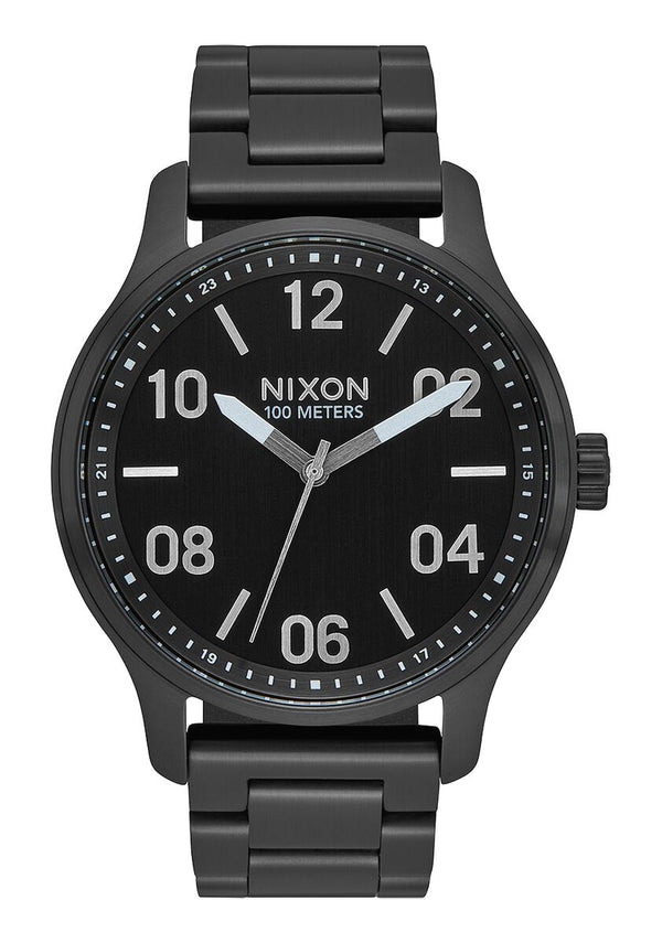 Nixon Patrol Watch- Black/Silver