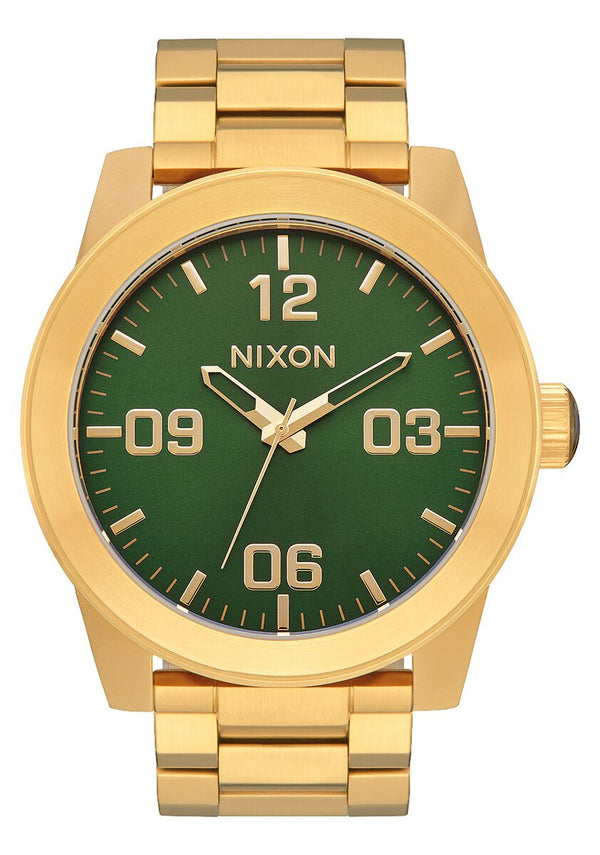 Nixon Corporal SS Watch - Gold/Green Sunray/HP