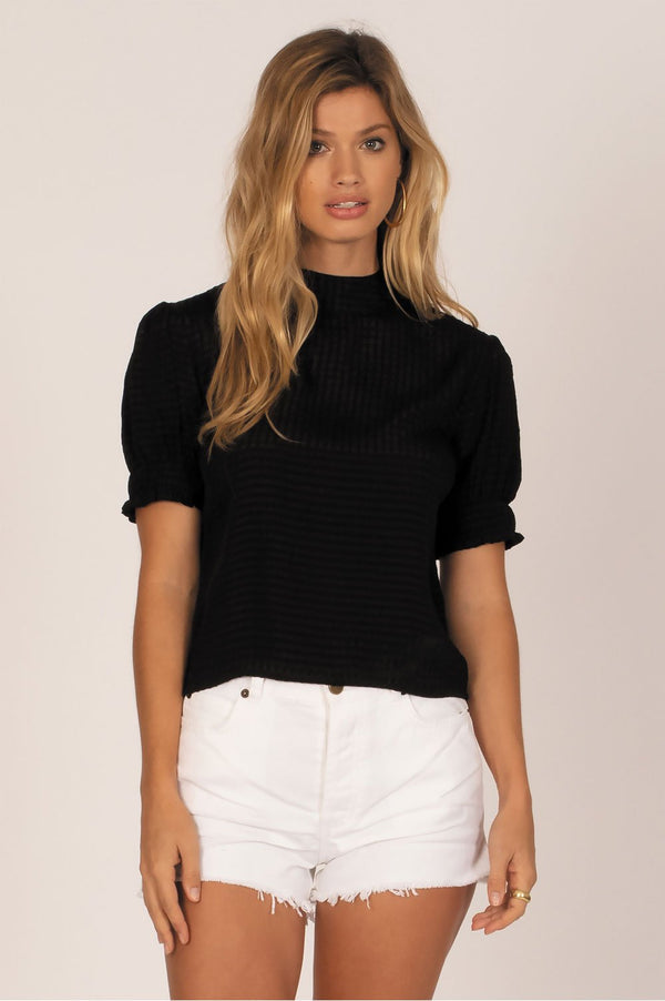 Amuse Society Ladies Palermo Woven Top - Front