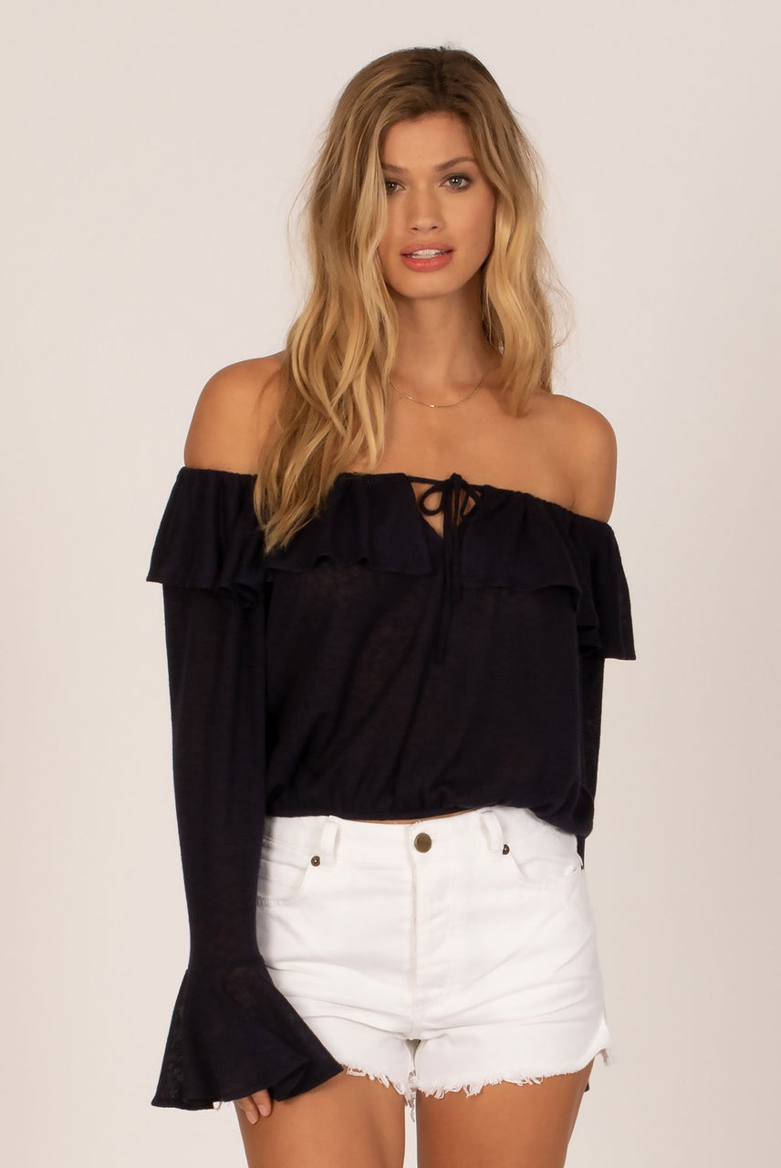 Amuse Society Ladies Bella Babe Top - Front