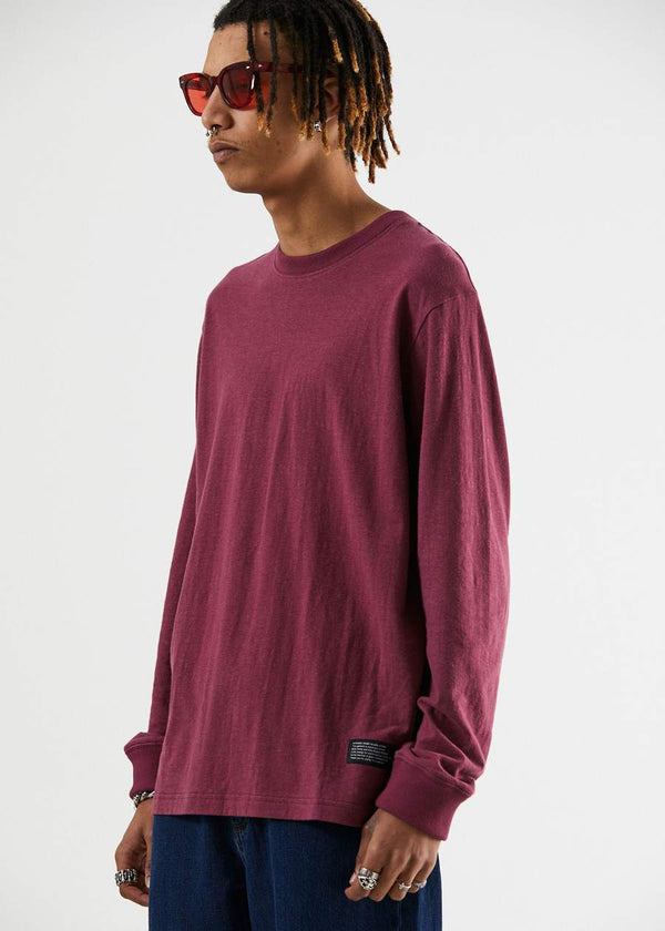 Afends Mens Rolling On Hemp LS Tee