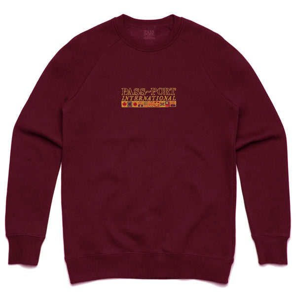 Pass~Port Mens International Embroidery Sweater