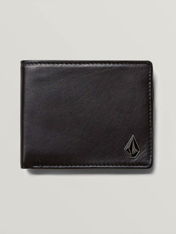 Volcom Mens Single Stone Leather Wallet