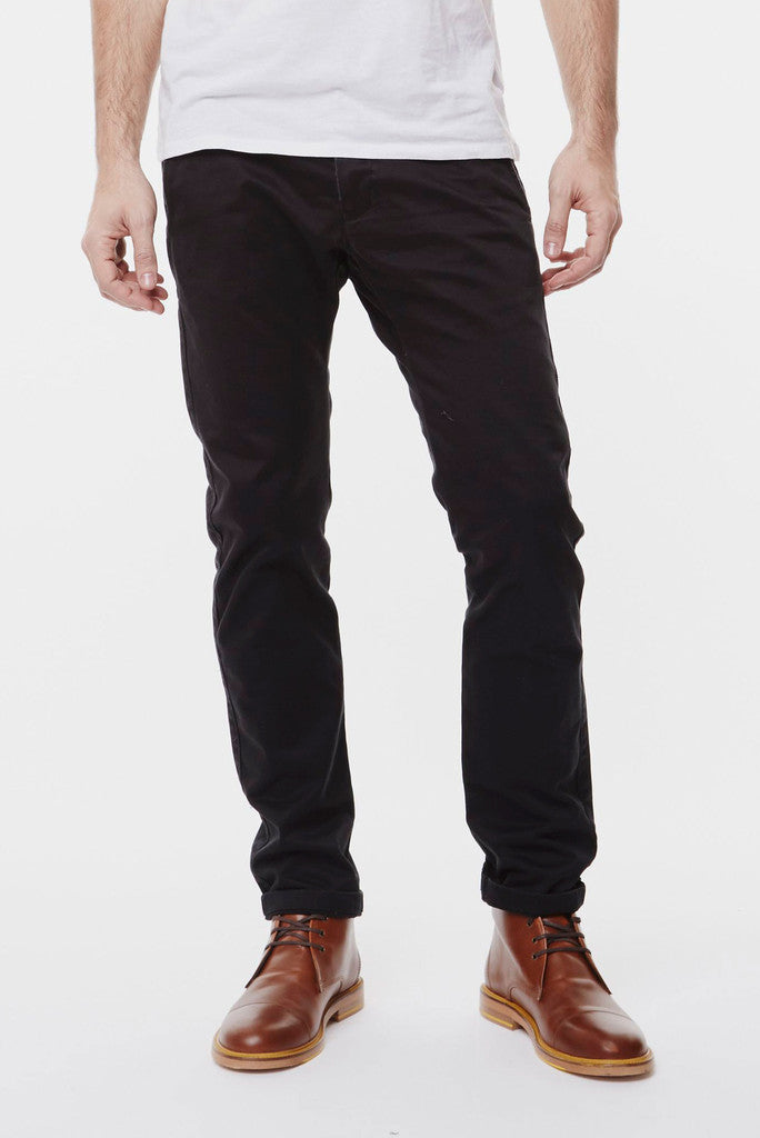 Dr Denim Mens Donk Chinos- Black