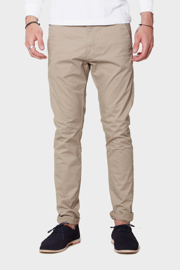 Dr Denim Mens Heywood Chinos- Khaki