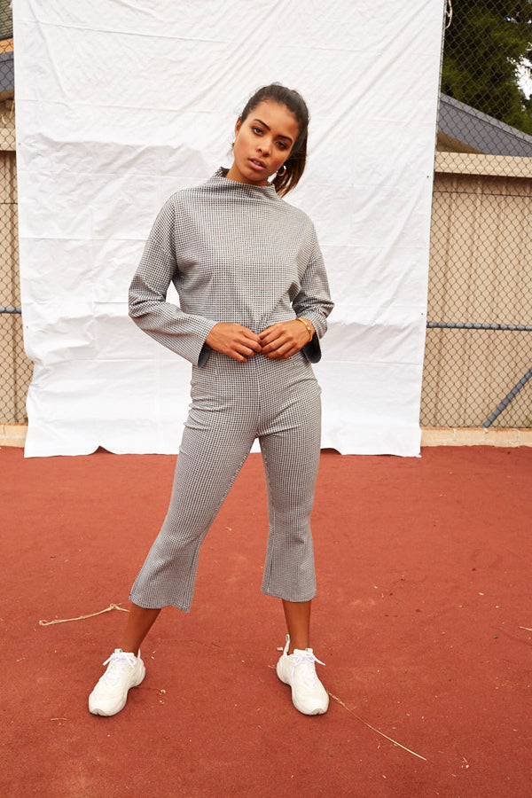 Twiin Ladies Caught Out Kick Flare Pants - Front