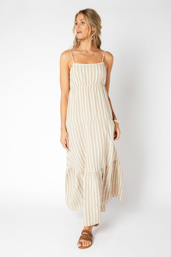 Mink Pink Ladies Sway Tiered Maxi Dress