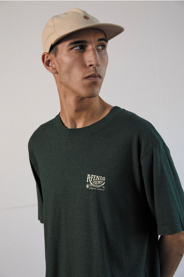 Afends Mens Bugle Hemp Retro Fit SS Tee - Front