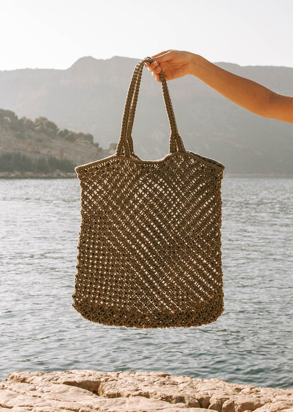 The Beach People Macrame Tote Bag