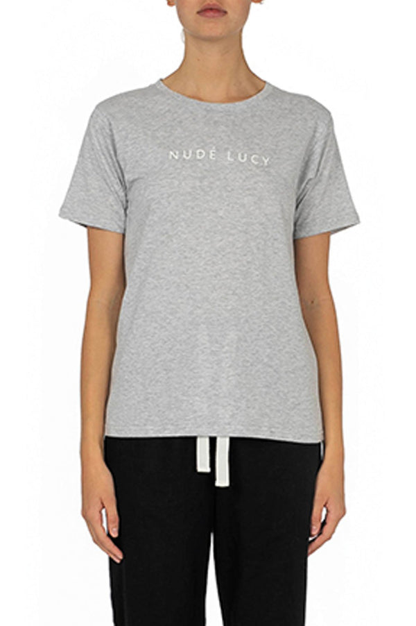 Nude Lucy Slogan SS Tee - Front