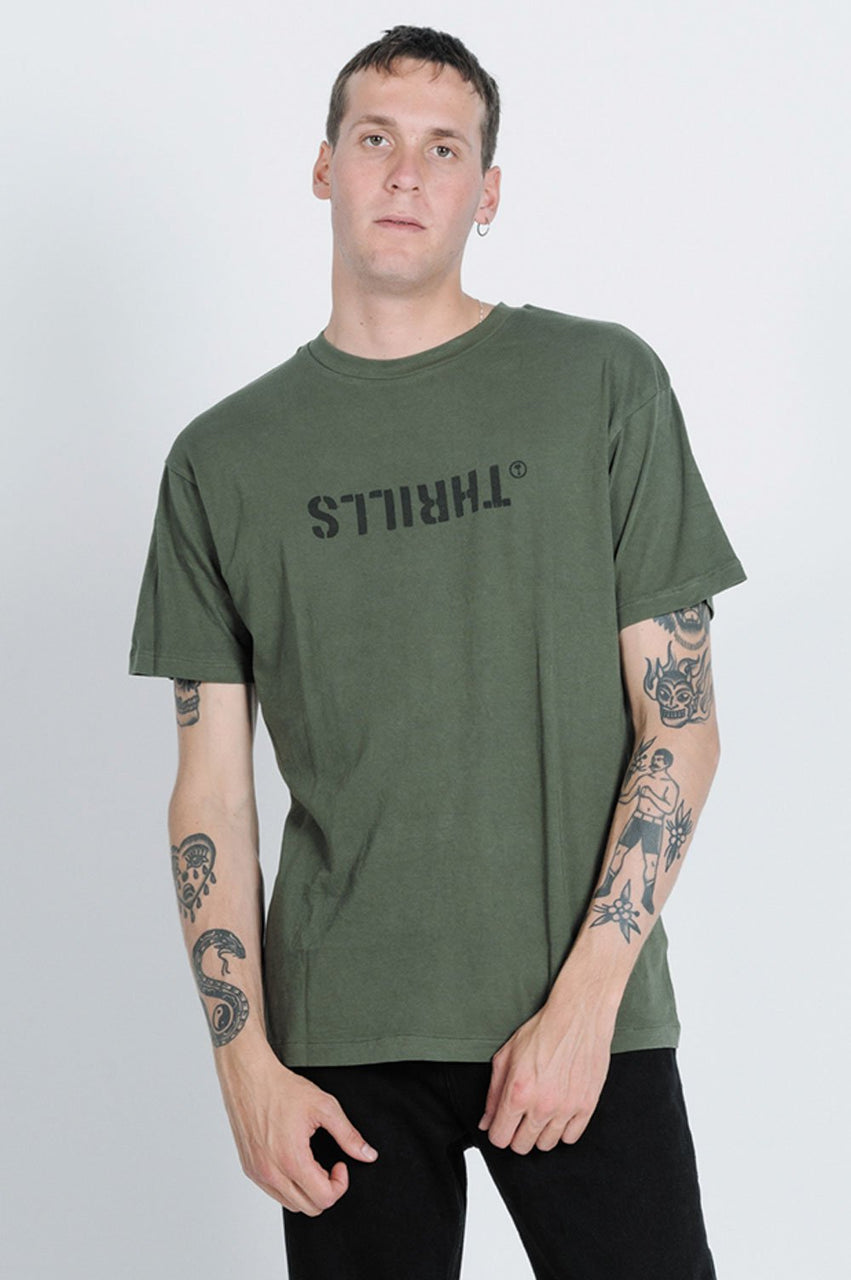 Thrills Mens Division Box Fit SS Tee - Front