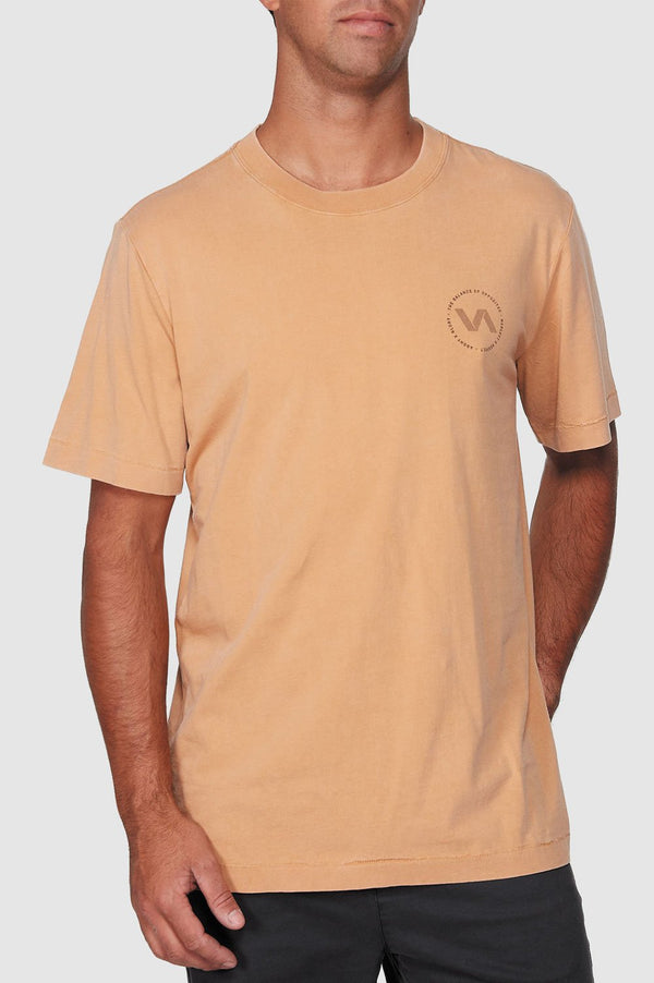 RVCA Mens Sound Waves SS Tee - Front