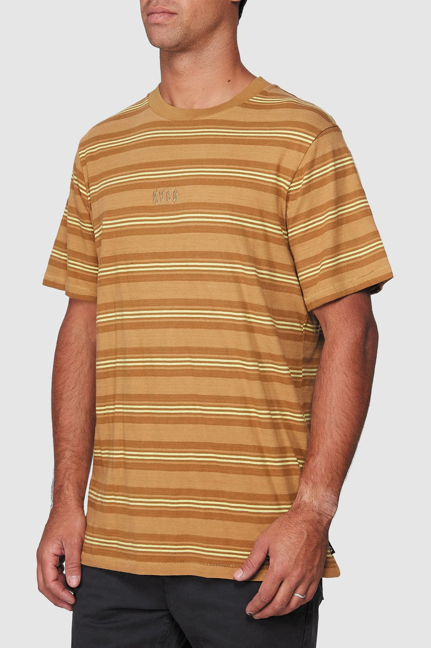 RVCA Mens Warp Stripe SS Tee - Side