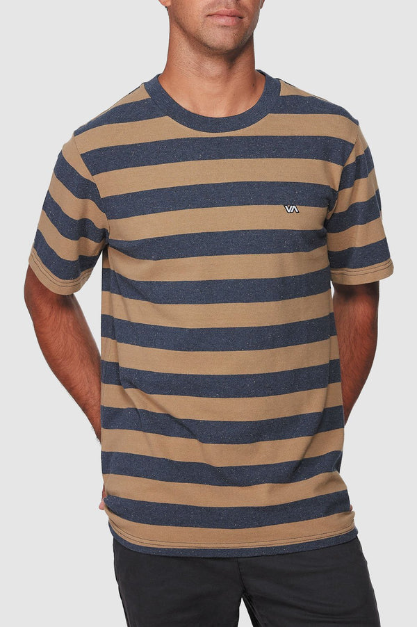 RVCA Mens Shallow End Stripe SS Tee - Front