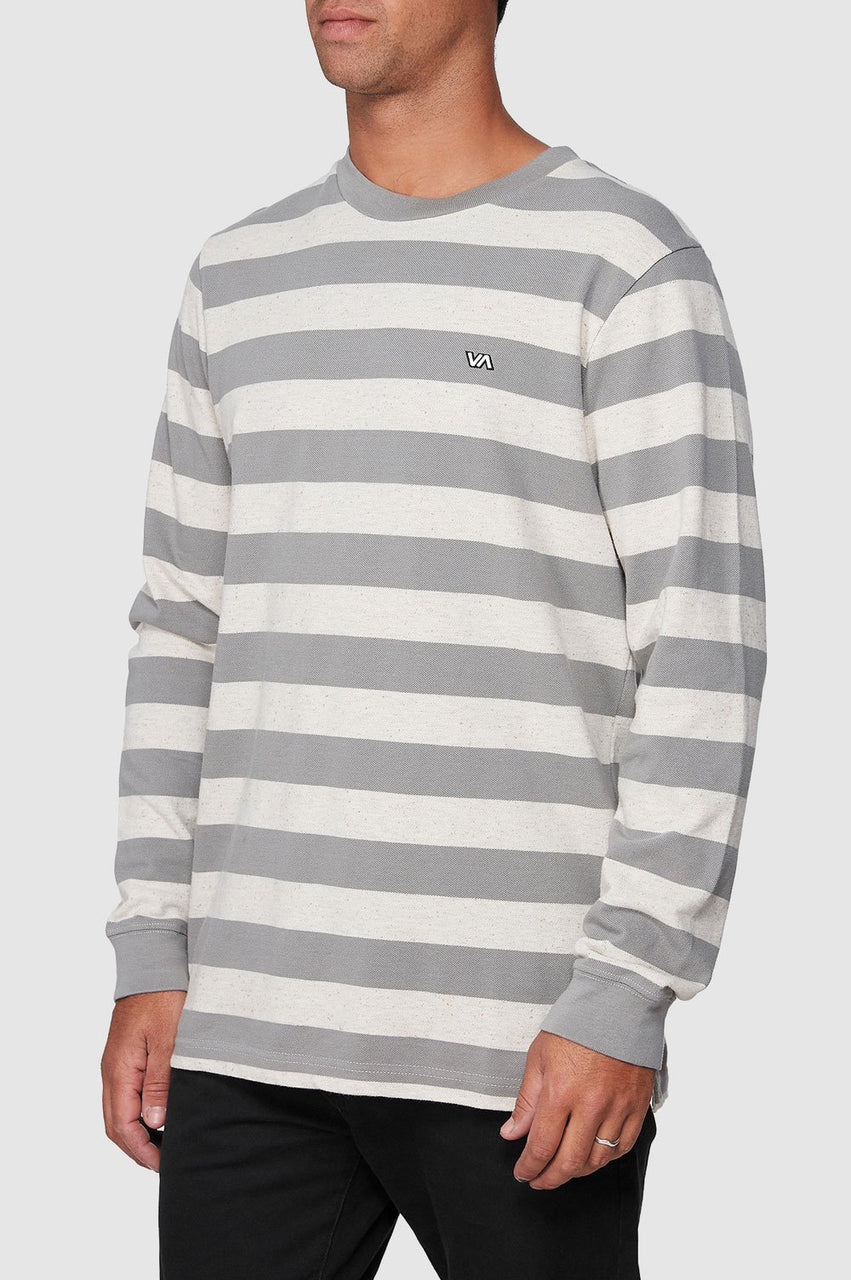 RVCA Mens Shallow End Stripe LS Tee - Side