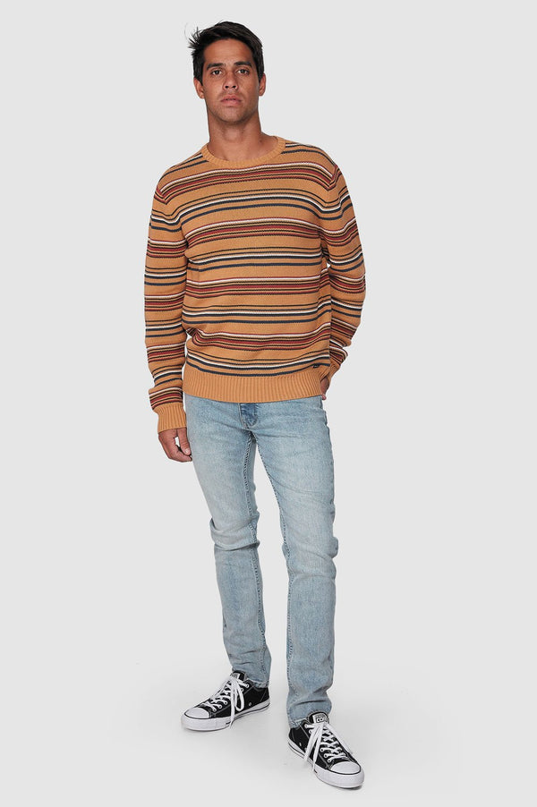 RVCA Mens Surfside Stripe Crew - Full