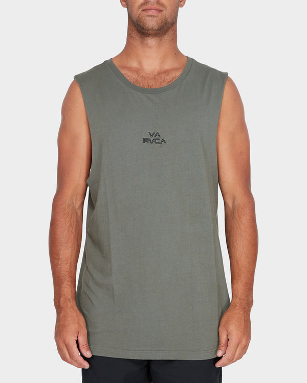 RVCA Mens Pyramid Muscle Tee - Front