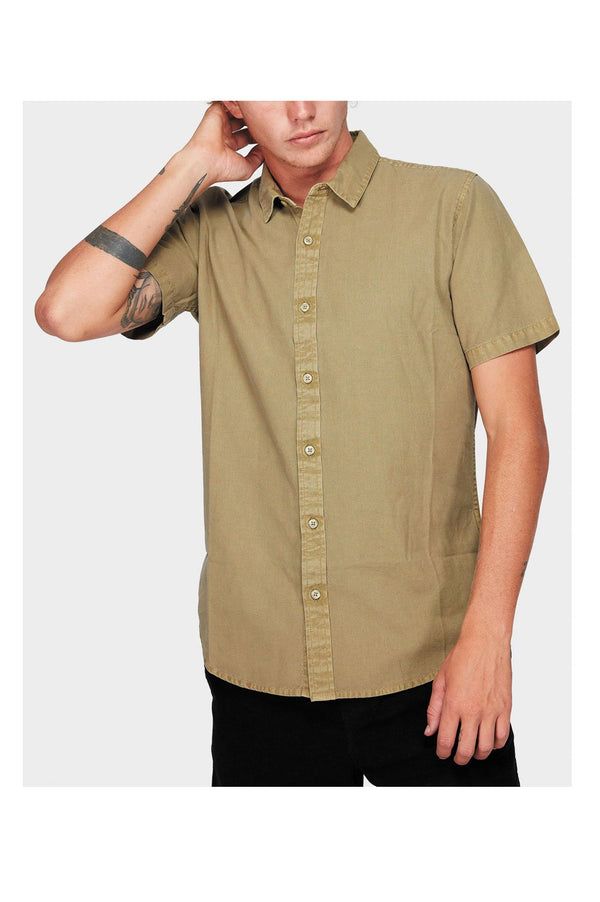 RVCA Mens Crushed SS Shirt - Front