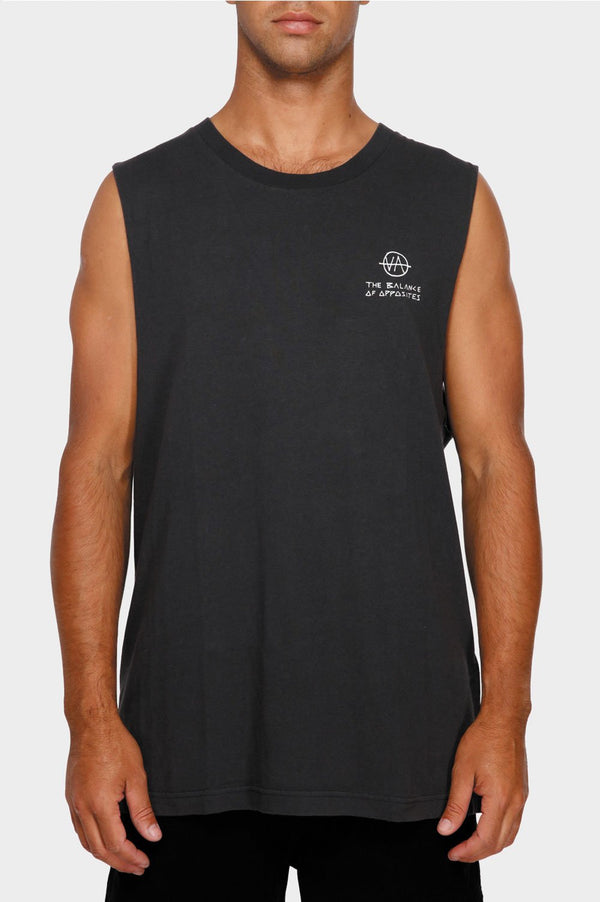 RVCA Mens Split Decision Muscle Tee - Front
