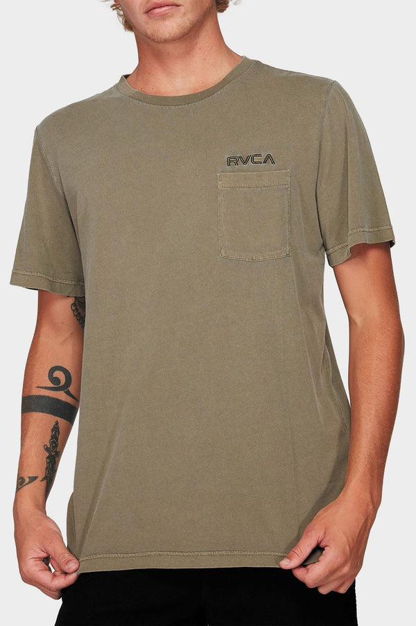 RVCA Mens Keyliner Pocket SS Tee - Front