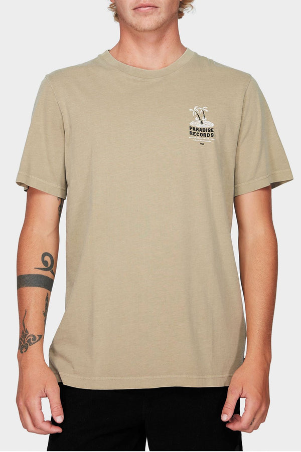 RVCA Mens Paradise Records SS Tee - Front