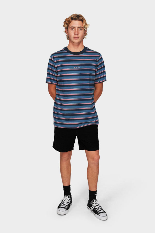 RVCA Mens Curtis Stripe SS Tee - Full