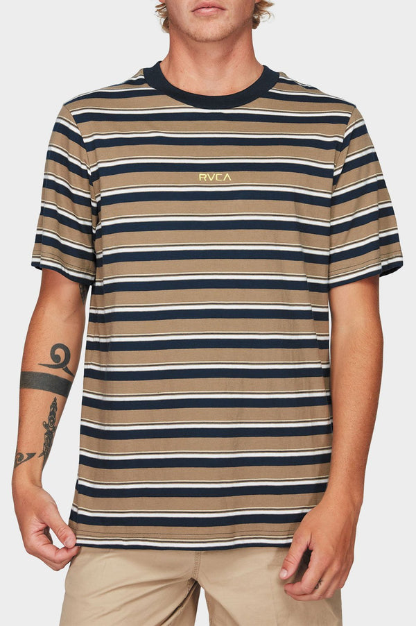 RVCA Mens Curtis Stripe SS Tee - Front