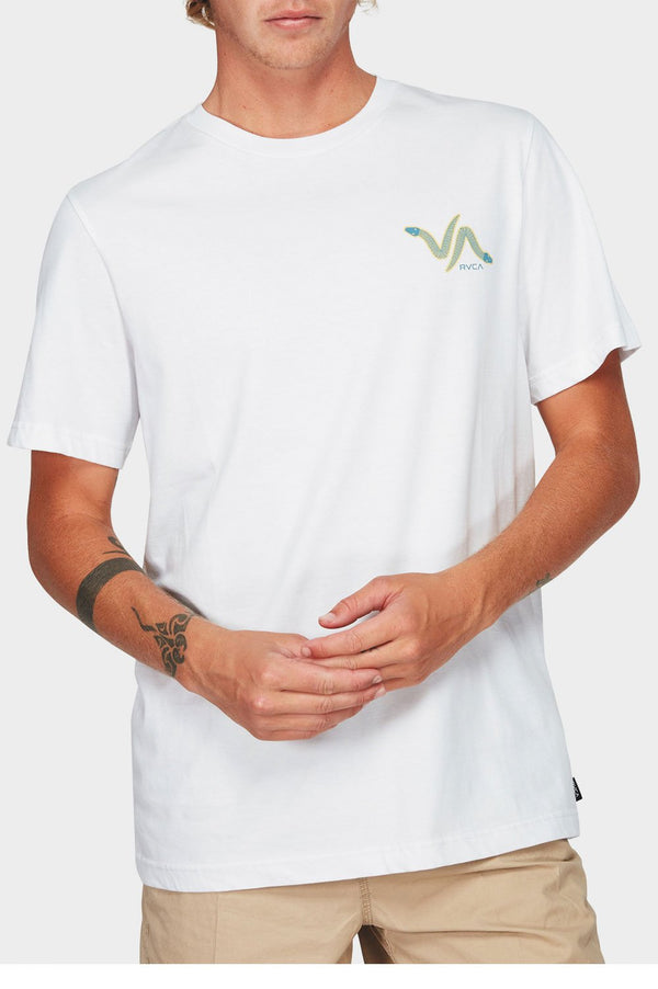 RVCA Mens Snakey Snake SS Tee - Front
