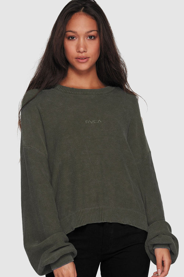 RVCA Ladies Slouchy Pigment Knit - Front