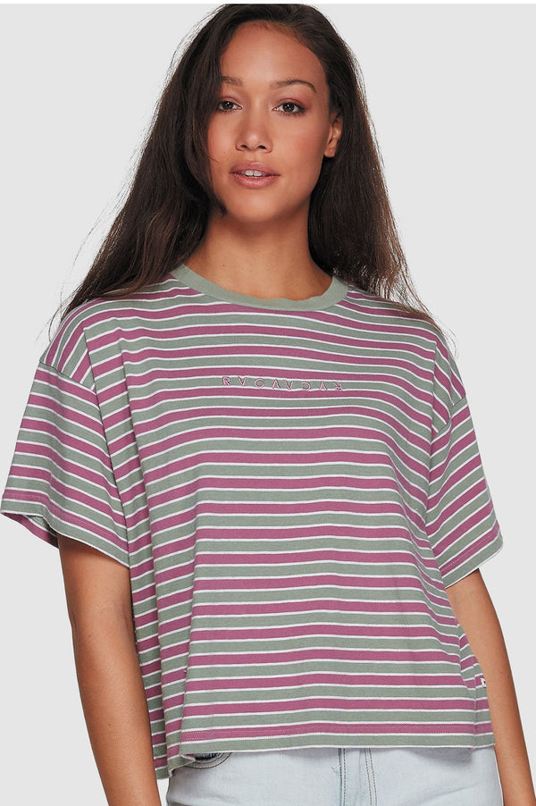 RVCA Ladies Retro Switch SS Tee - Front