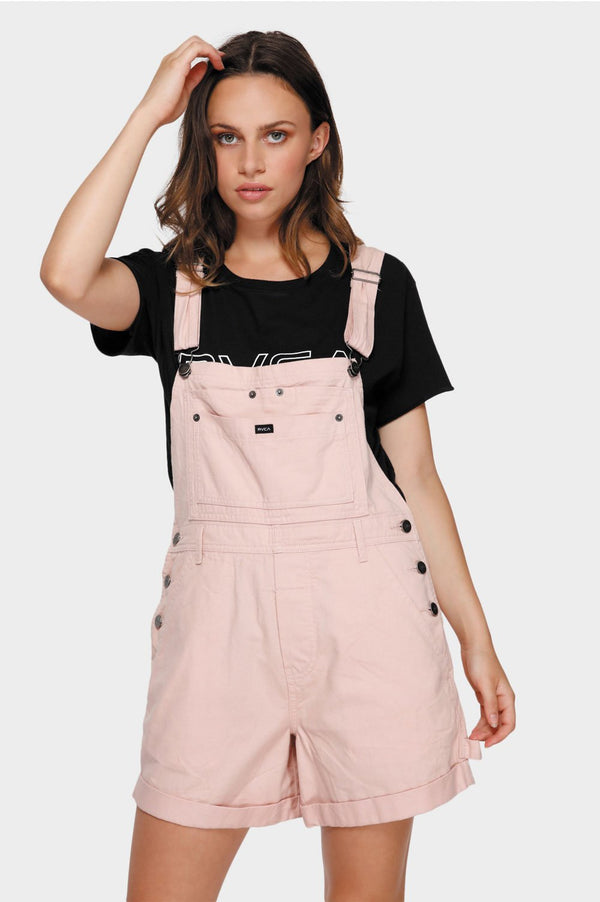 RVCA Ladies Sloucher Overalls - Front