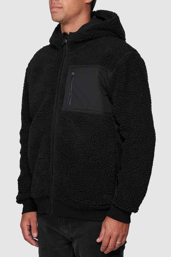 RVCA Mens Knoll Sherpa Jacket - Side