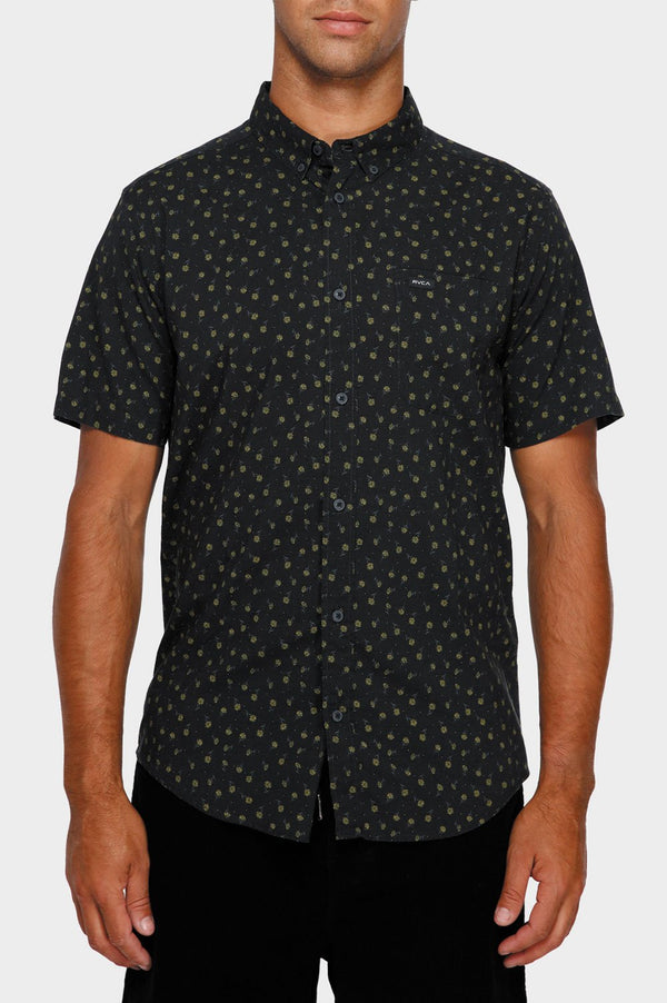 RVCA Mens Prelude Floral SS Shirt - Front
