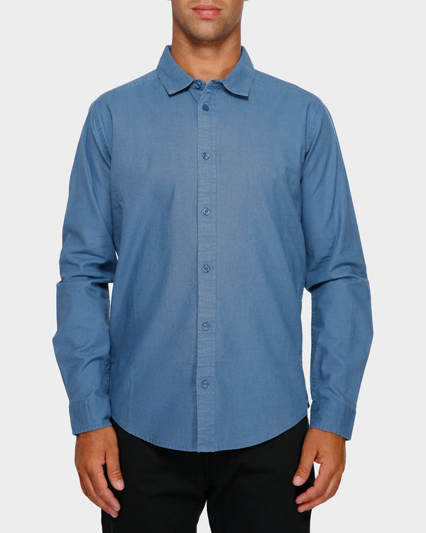 RVCA Mens Crushed LS Shirt