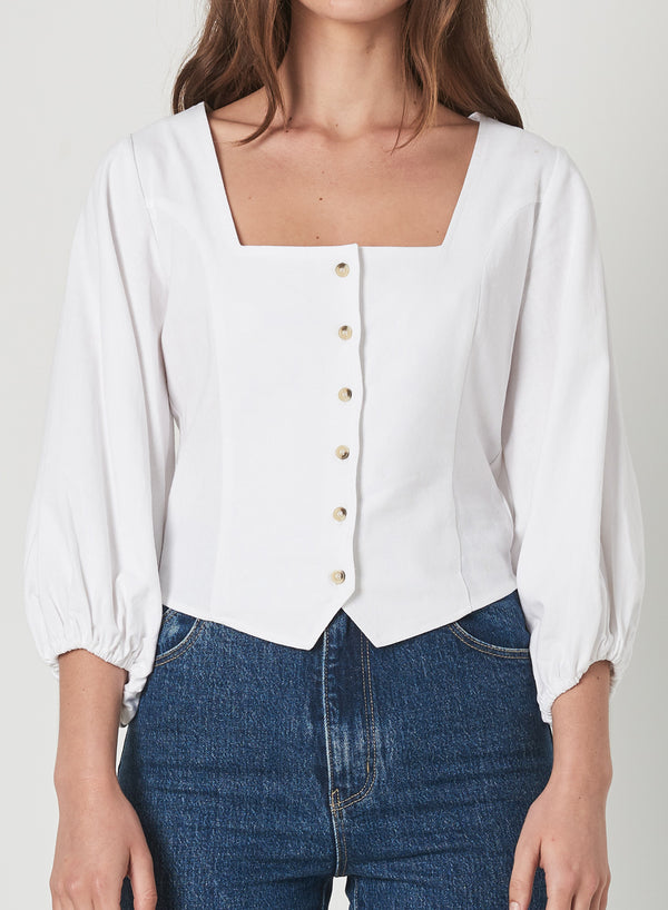 Rollas Ladies Roxanne Linen Top