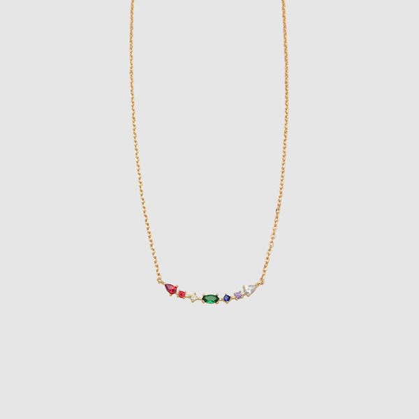 Jolie & Deen Rainbow Stem Necklace - Front