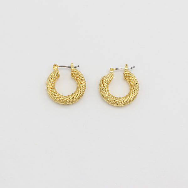 Jolie & Deen Romy Hoop Earrings - Front