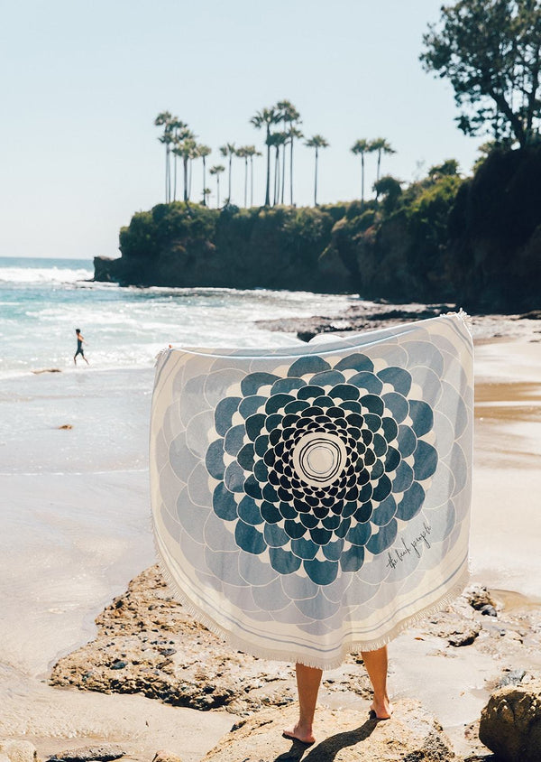 The Beach People Deia Round Towel