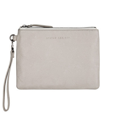 Status Anxiety Womens Fixation Clutch- Cement