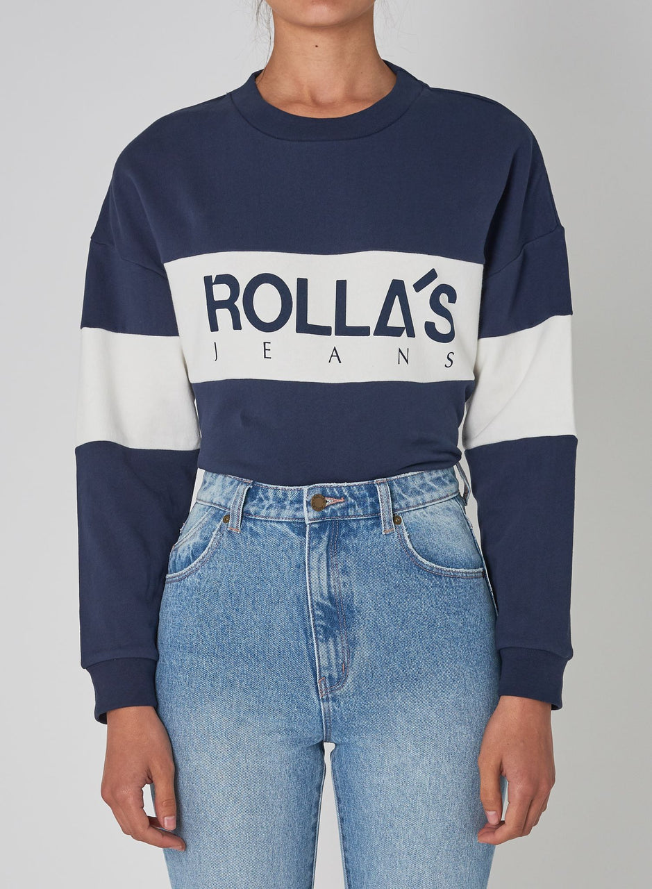 Rollas Ladies Split Logo Crew