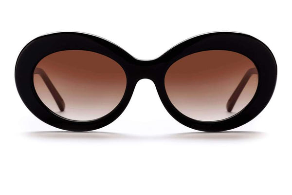Sunday Somewhere Kurt Sunnies- Gloss Black/Gradient Light Brown