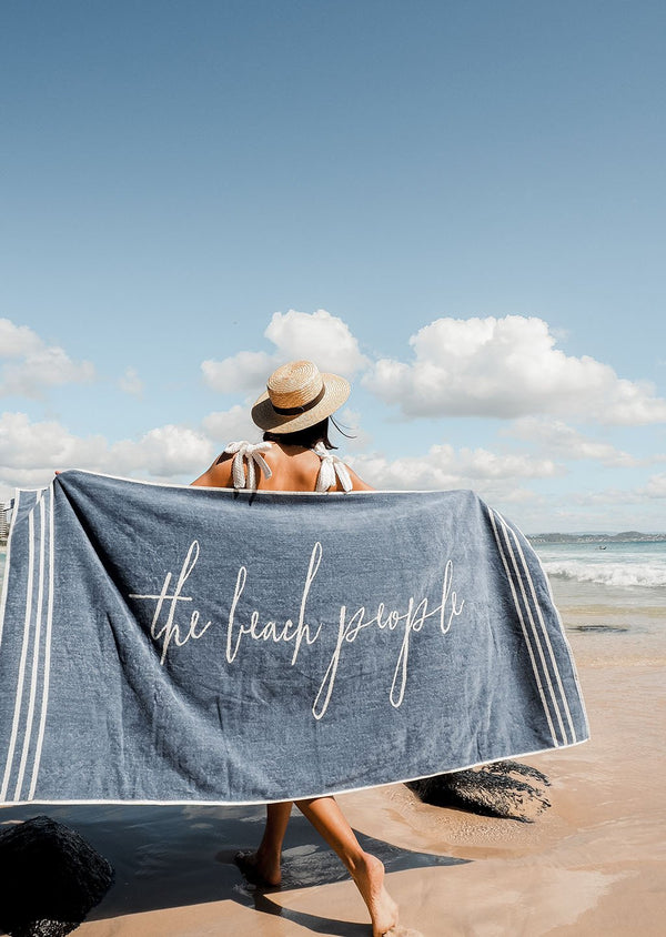 The Beach People Signature Towel Santorini Blue