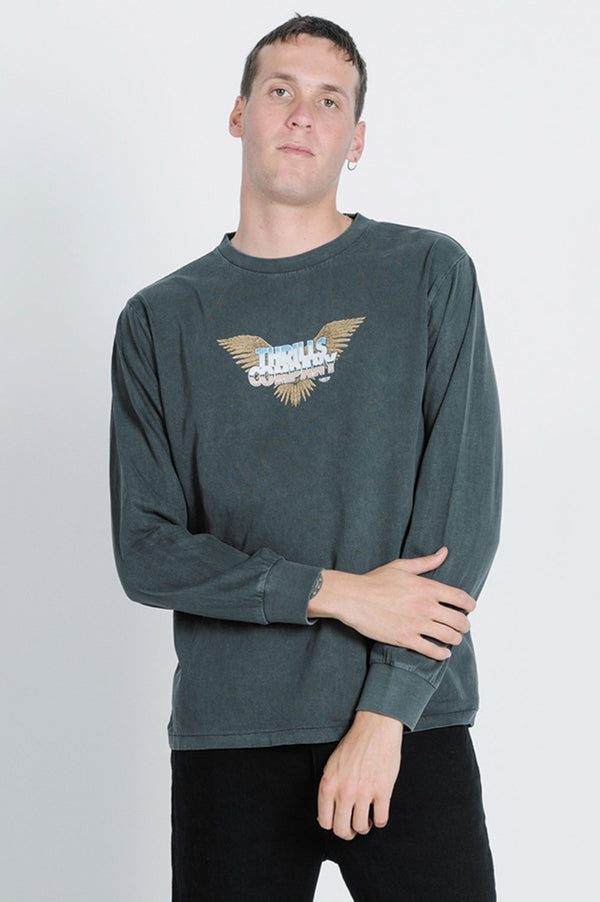 Thrills Mens Immaculate LS Tee - Front