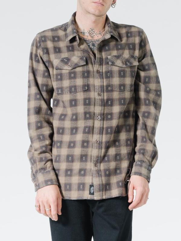 Thrills Mens Liste Flannel LS Shirt