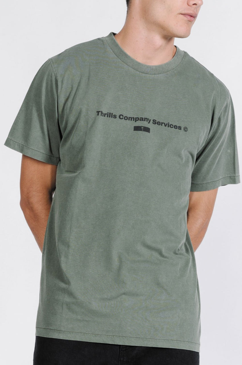 Thrills Mens Company Services SS Tee - Front