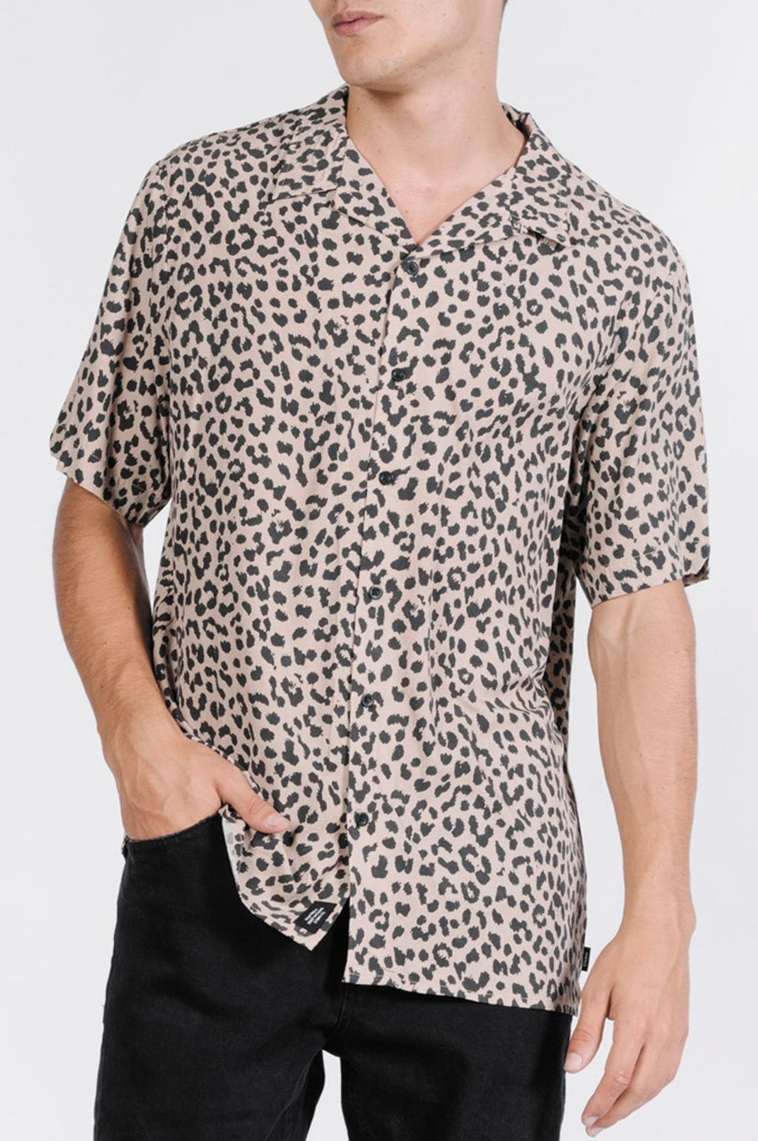 Thrills Mens Primal Bowling SS Shirt - Front